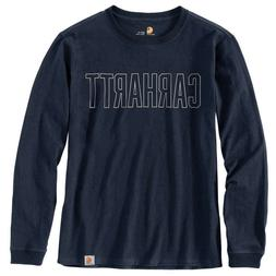 Carhartt 103841C - Men's Workwear Block Logo Graphic L/S T-S