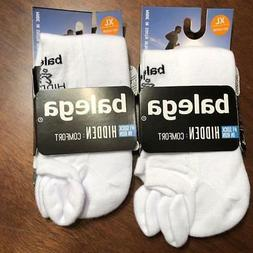 2 Pair Balega Hidden Comfort No-Show Socks White Men's or Wo
