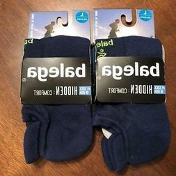 2 Pair Balega Hidden Comfort No-Show Socks Legion Blue Men's