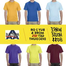 24PACK AAA 1301 ALSTYLE APPAREL MENS PLAIN SHORT SLEEVE T SH