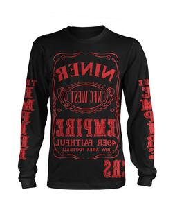 49ers Niner Empire Long Sleeve T-Shirt Black & Red  San Fran