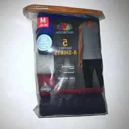 5  Fruit of the Loom A-Shirts Tank Tops Medium Tag Free Asso