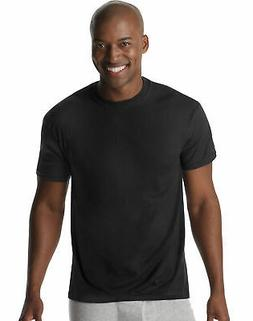 Hanes 6-Pack Undershirt Men XTemp Comfort Cool Dyed Black Cr