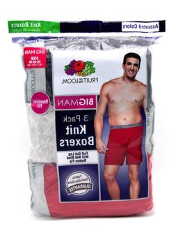 9 Gray Red Bigman 5XB 58-60 Inch Knit Boxers Fruit Of The Lo