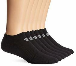 Under Armour Mens Charged Cotton 2.0 No Show 6 Pack, Black/G
