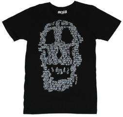 A Love Mens T Shirt  - Word Skull Scribble Image
