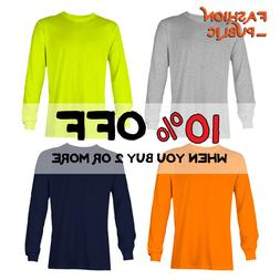 AAA 1304 MEN CASUAL LONG SLEEVE T SHIRT PLAIN SHIRTS COTTON