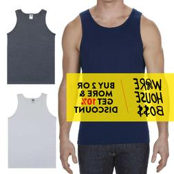 AAA 1307 ALSTYLE APPAREL MENS TANK TOP PLAIN SLEEVELESS T SH