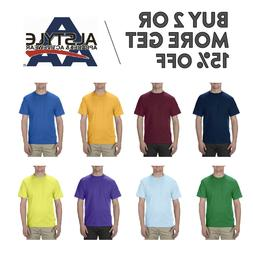 AAA ALSTYLE 1301 MENS PLAIN T SHIRT CASUAL SHORT SLEEVE SHIR