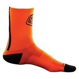Troy Lee Designs Ace Performance Crew Socks Orange, 10.0-13.