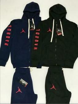 NIKE AIR JORDAN MENS SWEATSUIT HOODIE AND JOGGERS ZIP UP COM