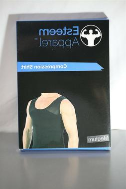 Esteem Apparel Mens Muscle Tank Top Black Sz M Firming Compr