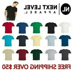 Next Level Apparel Men's Premium Crew Neck T-Shirt 3600 Basi