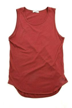 ARC Clearance Men Burgundy Scoop Tank Top
