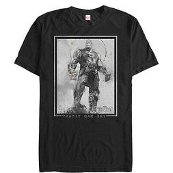 Marvel Avengers: Infinity War Thanos Grayscale Mens Graphic