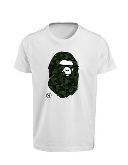 Bape T-Shirt Camo A Bathing Ape Shirt NWT BAPE White Adult T
