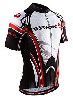 sponeed Men's Bicycle Jersey Breathable Cycling Shirts Tops
