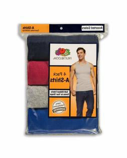 """Fruit of the Loom® BIG MEN'S 4/8 PACK Multicolor A-SHIRTS """""""