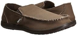 Crocs Men's Big & Tall Espresso Santa Cruz Canvas Slip-On Me