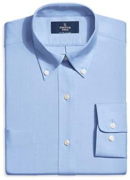 BUTTONED DOWN Men's Classic Fit Button-Collar Non-Iron Dress