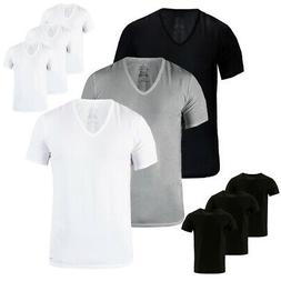 Calvin Klein Men's 3 Pack Classic Fit 100% Cotton V-Neck or