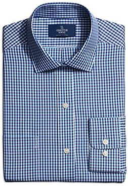 BUTTONED DOWN Men's Classic Fit Spread-Collar Small Gingham