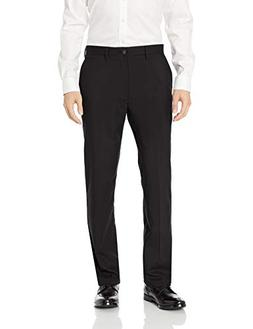 BUTTONED DOWN Men's Classic Fit Stretch Wool Dress Pant, Bla
