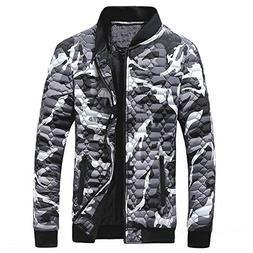 Clearance Forthery Men's Coat Camouflage Winter Warm Thick Z