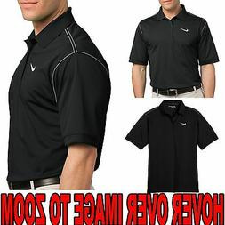 CLEARANCE Mens NIKE Contrast Stitch Polo BLACK/WHITE SIZE: M