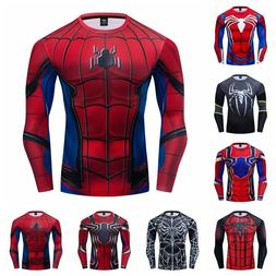 Compression T-shirts Long Sleeve Quick Dry Fitness Gym 3D Me