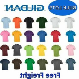Gildan Cotton T-Shirts Bulk Lots S-XL Wholesale Tee Shirts C