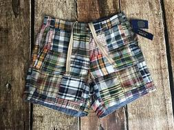 drawstring 6 inch classic fit madras shorts