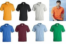 Gildan DryBlend Jersey Mens Polo Sport Shirt 21 Colors Sizes