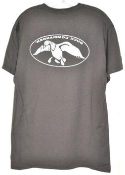 Duck Commander Duck Logo Dark Gray TShirt Sz Large NWT