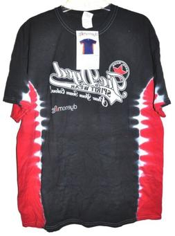 Gildan Dyenomite Apparel T-Bone Black/Red Tye-Dyed T-Shirt M