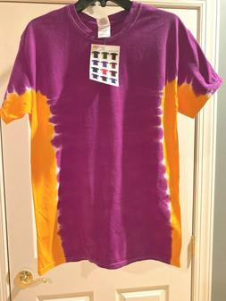 Gildan Dyenomite Apparel T-Bone Purple/gold Tye-Dyed T-Shirt