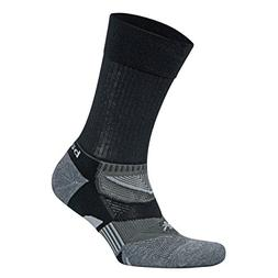 Balega Enduro V-Tech Crew Socks, Black/Grey Heather, Large