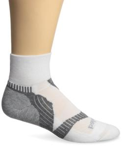 Balega Enduro V-Tech Quarter Running Sock White/Grey, XL