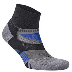 Balega Enduro V-Tech Quarter Socks For Men and Women, Black/