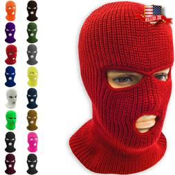 Face Mask Ski Mask Winter Cap 3 Hole Balaclava Beanie Hat Ho
