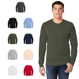American Apparel Mens Fine Jersey Long Sleeve T-Shirt Ring S