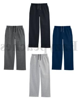 Fruit of The Loom - Mens OPEN BOTTOM POCKET Sweatpants, Swea