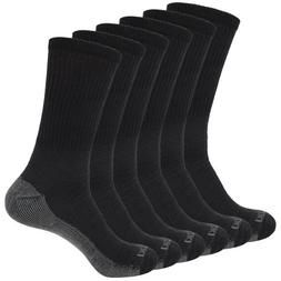 Dickies Genuine Mens 5-Pair Crew Style Work Socks - Black wi
