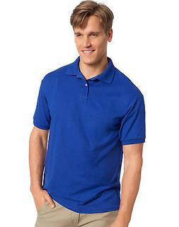 Hanes Golf Tee Men's Polo Shirt Cotton-Blend EcoSmart Jersey