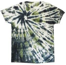 Green Tie Dye T-shirt Men's  Camo Psychedelic Theme -Our Hou