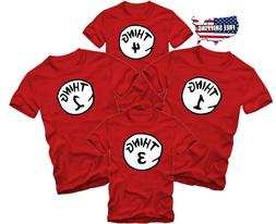 Halloween Funny Matching T-shirts Thing 1  2 3 one Two Custo