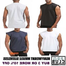 PRO CLUB SLEEVELESS T SHIRTS MENS HEAVYWEIGHT MUSCLE TANK TO