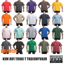 PRO CLUB HEAVYWEIGHT T SHIRTS PROCLUB MENS PLAIN CREWNECK SH