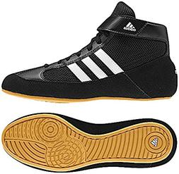 Adidas HVC 2 Laced Youth Wrestling Shoes - 5.5 - Black/White