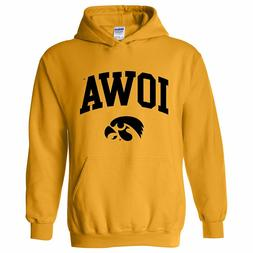 Iowa Hawkeyes Basic Block Arch Logo Licensed Hooded Sweatshi